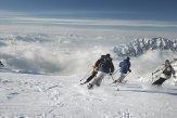 Sci alpino paesaggio invernale